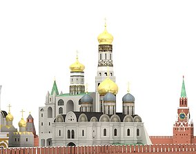 view Kremlin Moscow 3D model
