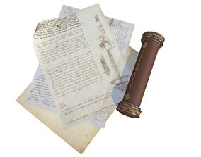 3D asset Scroll Game Ready