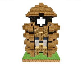 3D model Defender Tower Minecraft