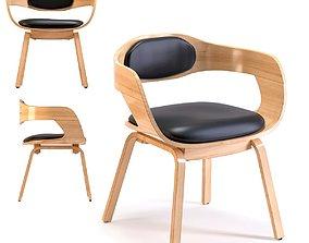 3D Chair with Armrest Costa Beech