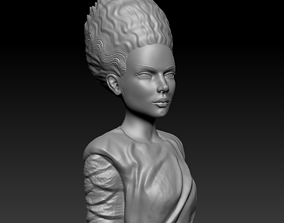 3D print model classic Bust - Bride Of Frankestein