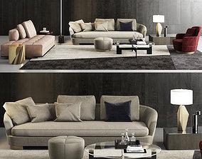 furniture Minotti Grand Jacques Sofa Set 3D