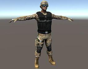 Soldier - PBR 3D model