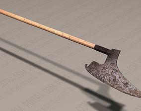 3D Doloire Battle Axe - German 16th Century - Wood with 1