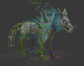 3D model Wolf Monster hound Jackals