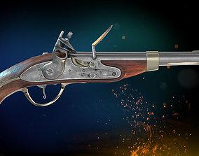 Flintlock Pistol 3D