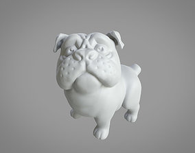 cute 3D printable standing Pug 50mm and 100mm