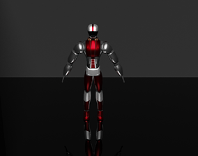 rigged Cyborg 3D character