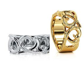Heart Ring R F 0068 3D print model