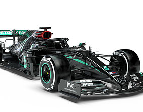 3D model pbr F1 Mercedes W11 2020