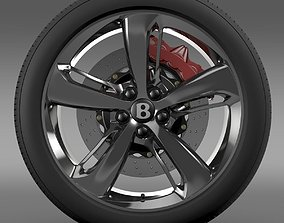 Bentley Continental GT Speed 2015 wheel 3D