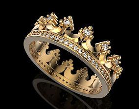 Crown ring 2 3D print model