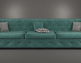 Sofa Chesterfield 3D model low-poly