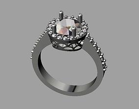 Diamond Engagement Ring 3D printable model brilliant