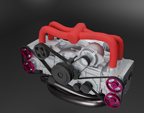 Subaru EJ20 Engine 3D model