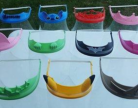 12 Models Face Mask Shield Covid 19 12 models 3D