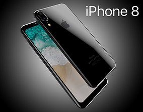 Apple iPhone8 2017 Rounded edges Leak All Colors 3D asset