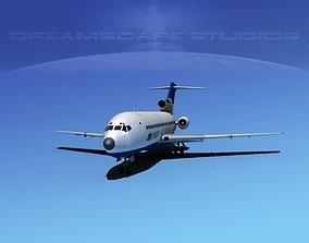 3D model Boeing 727-100 Air West