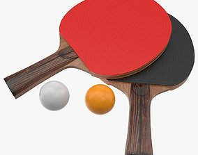 Ping Pong Paddle 3D asset game-ready PBR