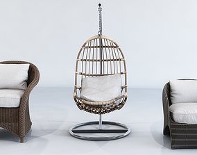3D Straw Furniture Outdoor