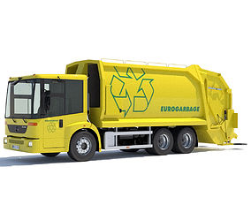 Mercedes Econic Garbage Truck industrial 3D