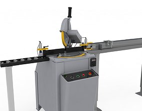 3D model Mitre Saw Adjustable and Rigged