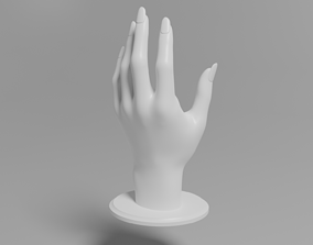 Female hand stand for wristwatch and rings 3D print model