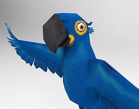 3D asset Blue Bird Parrot