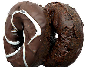 Photorealistic 3D Scanned Chocolate Doughnut realtime