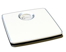 White Weight Scale 3D