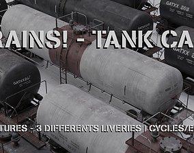 TRAINS Tank cars 3 liveries 3D