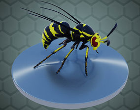 Wasp Insect 3D model rigged