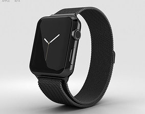 Apple Watch Series 2 38mm Space Black Stainless 3D model 2