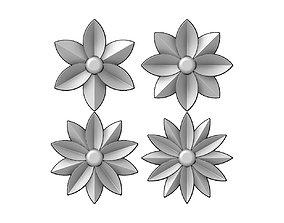 Square rosette relief 3D print model