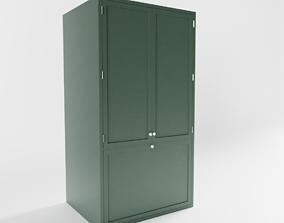 3D model 3-Door Refridgerator
