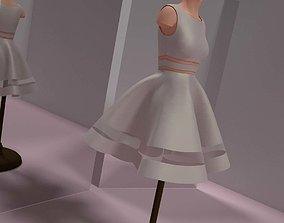 3D model Little White Dress