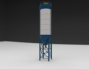 3D model part silo silage