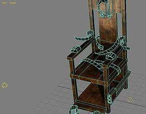 Torture Chair Low Poly Model 3D asset