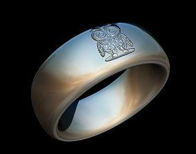 Owl Ring 3D Model for 3D Printer