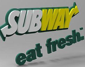 3D model SubWay Logo