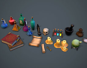 3D asset Alchemist set - game ready props