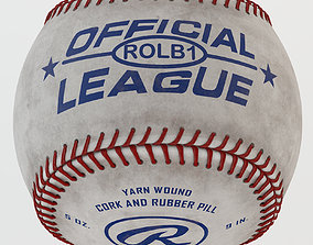 3D model Rawlings ROLB Official League Baseball 4K