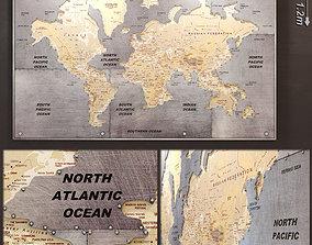 3D World map Metal
