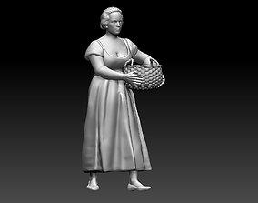 farmer woman 3D print model
