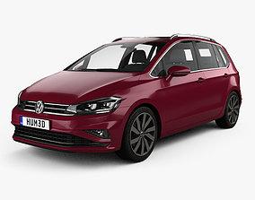 3D model Volkswagen Golf Sportswan 2017