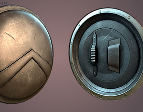 Spartan Shield Low poly 3D asset