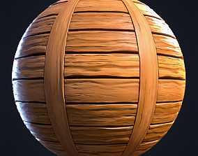 Wood Planks Stylized Hand Painted Textures 3D model