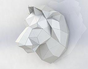 Lion met Polygon model Sheet metal Lion 3D model 3D model