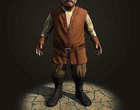 Dwarf the peasant 3D asset