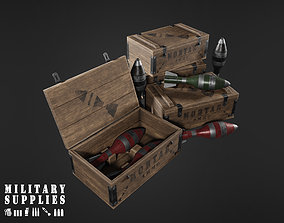 Military Supplies Pack - Mortar Ammo Box 3D model